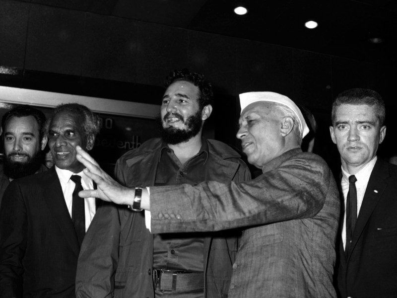 Goodbye, old friend: Fidel Castro seen here with Indian Prime Minister Jawaharal Nehru at the Hotel Theresa in Harlem, New York, September 20, 1960. Photo: Reuters