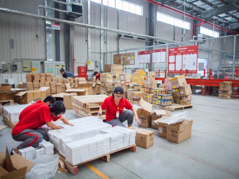 Packages are sorted in a Gu'an warehouse and distribution facility. Photo: iStock/Getty Images