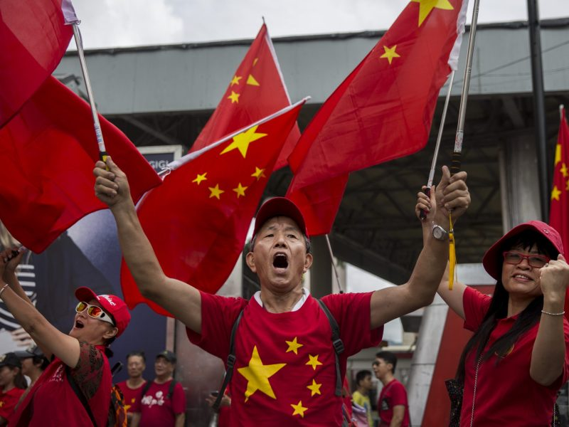 A warm welcome with Chinese characteristics? Photo: Isaac Lawrence/AFP