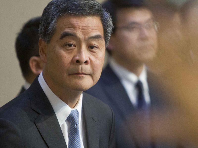 Hong Kong's Chief Executive Leung Chun-ying Photo: AFP/EyePress/Alan Siu)
