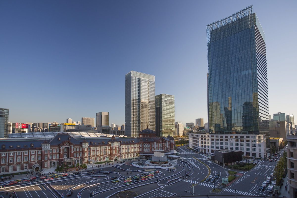 Tokyo Station, and the Marunouchi business District.
