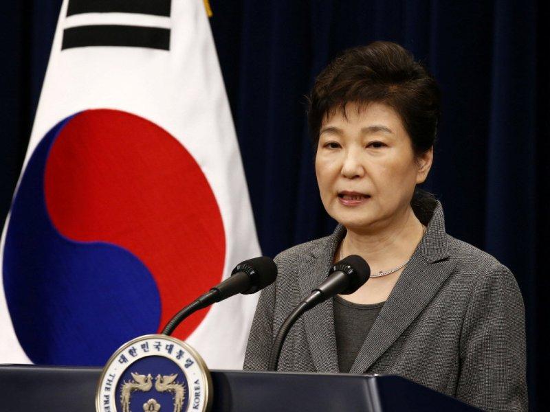 South Korean President Park Geun-Hye speaks during an address to the nation on November 29. Photo: Reuters/Jeon Heon-Kyun