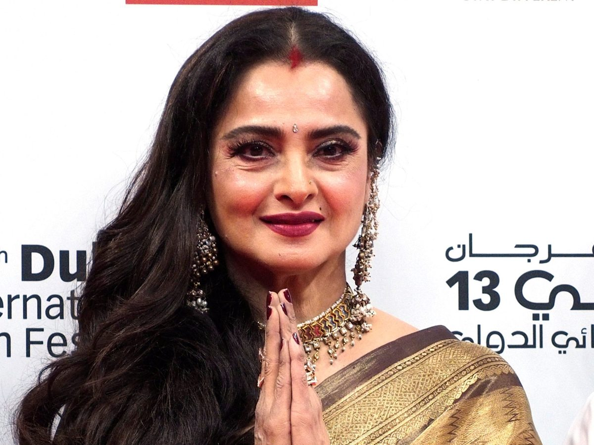 Bollywood actress Rekha poses on the red carpet during the Dubai International Film Festival in Dubai, UAE December 7, 2016. REUTERS/Jeff Topping