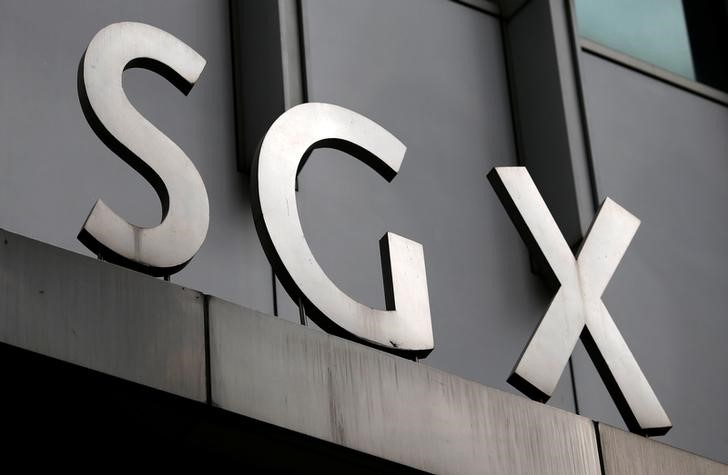 A logo of the Singapore Stock Exchange (SGX) is pictured outside its premises in the financial district of Singapore. Photo: Reuters/Edgar Su