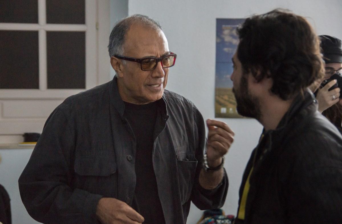 Abbas Kiarostami(left) the legendary Iranian director at a Murcia film workshop in 2013. Photo: Pedro J Pacheco/ Wikimedia Commons