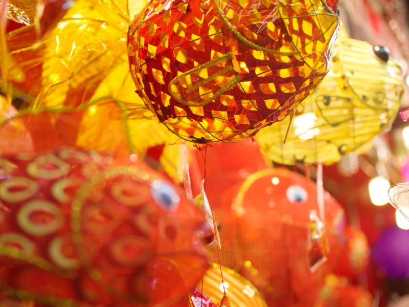 Fish lanterns at 160 Queen's Road West. Photo: William Furniss