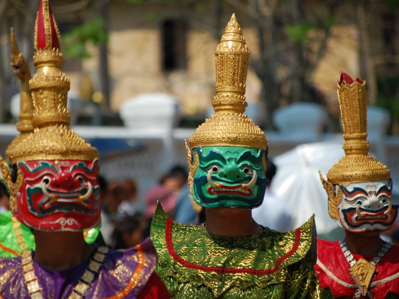 Lao dancers during new year celebrations. Photo: Wikimedia Commons