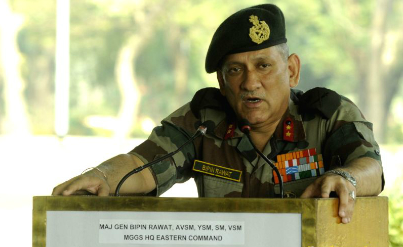 Lieutenant-General Bipin Rawat was named as the new chief of the Indian Army to succeed General Dalbir Singh Suhaag. Photo / Reuters / Files