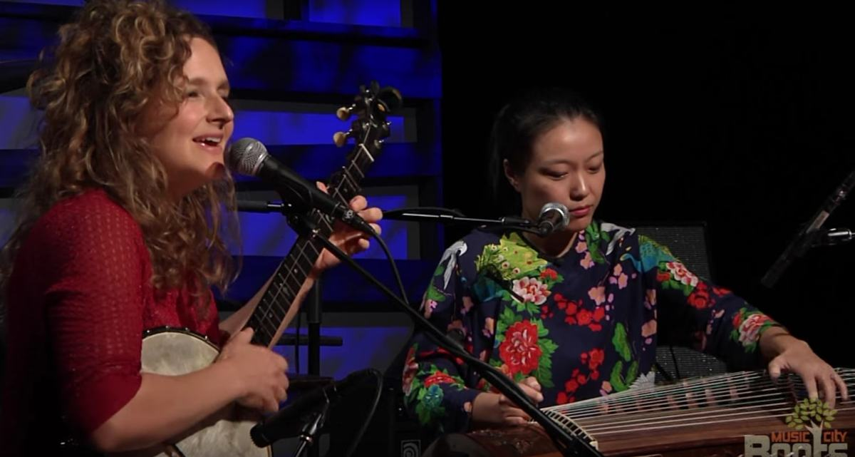 Wu Fei and Abigail Washburn perform. Photo: Music City Roots video