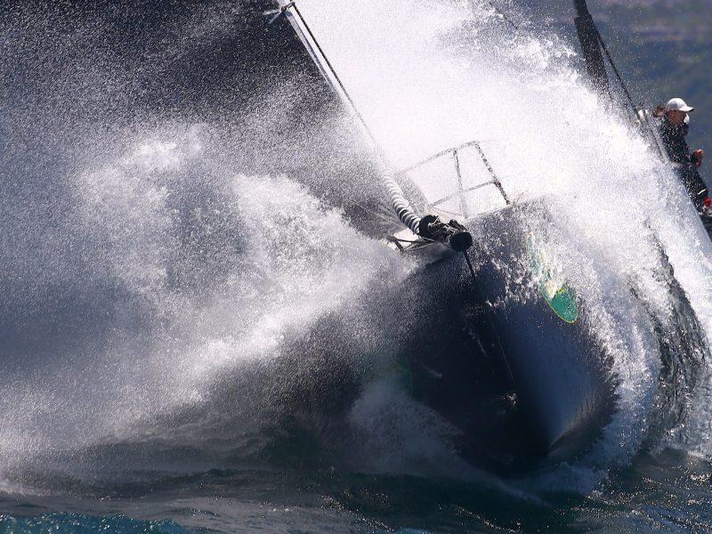 The Beau Geste sails out of Sydney Harbour. Photo: Reuters