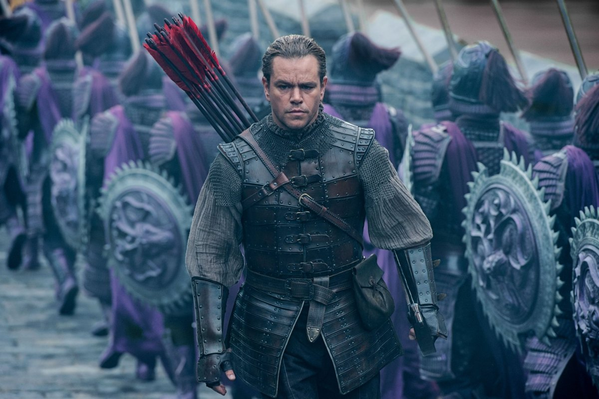 Matt Damon in The Great Wall ... a much earlier and ultimately futile and costly protectionist measure.