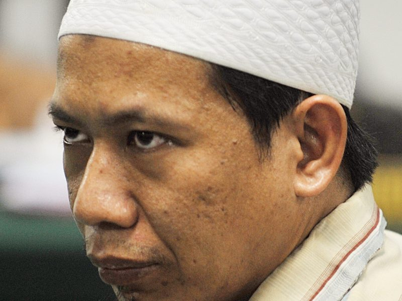 Aman Abdurrahman is considered to be the de facto leader of all ISIS supporters in Indonesia. Photo: AFP / Bay Ismoyo