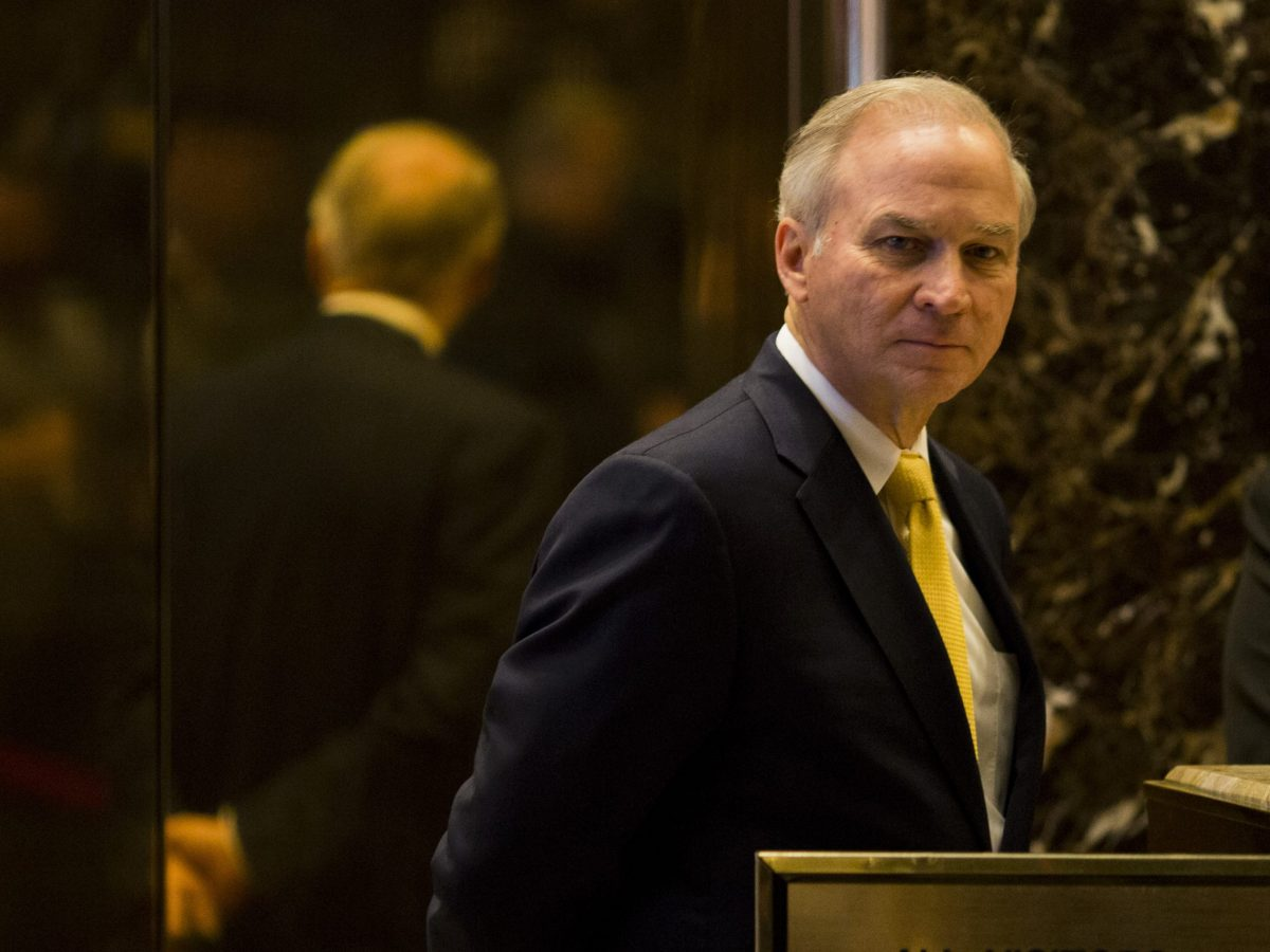 J. Randy Forbes arrives at Trump Tower in New York City on December 5. Photo: AFP / Dominick Reuter
