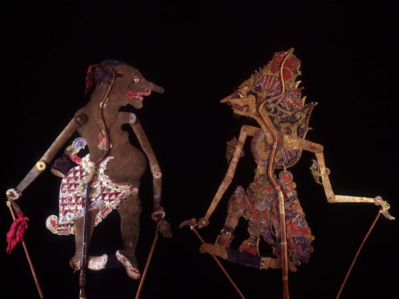 Wayang kulit puppets in Java, Indonesia. Photo:  Collection Jean François Hubert