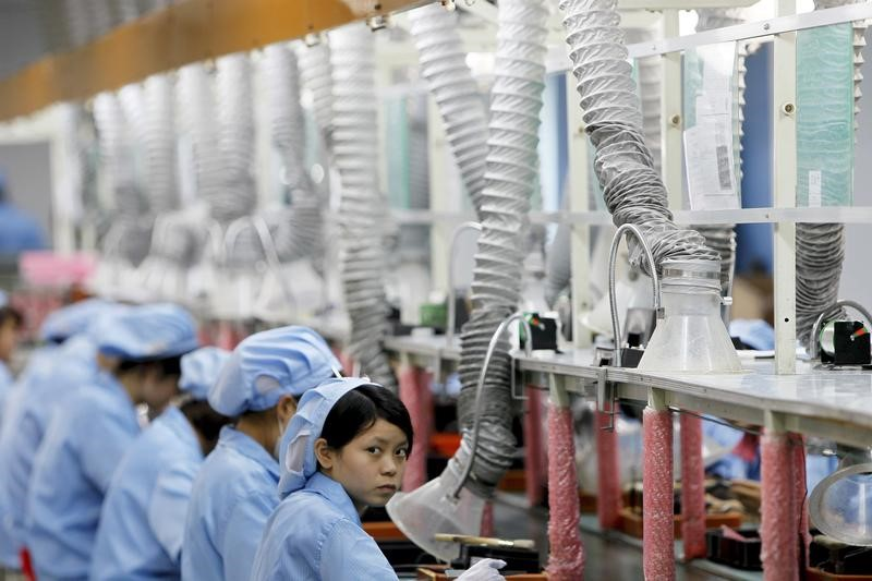 A production line in Suzhou Etron Electronics Co. Ltd's factory in Suzhou, Jiangsu province. Photo: Reuters