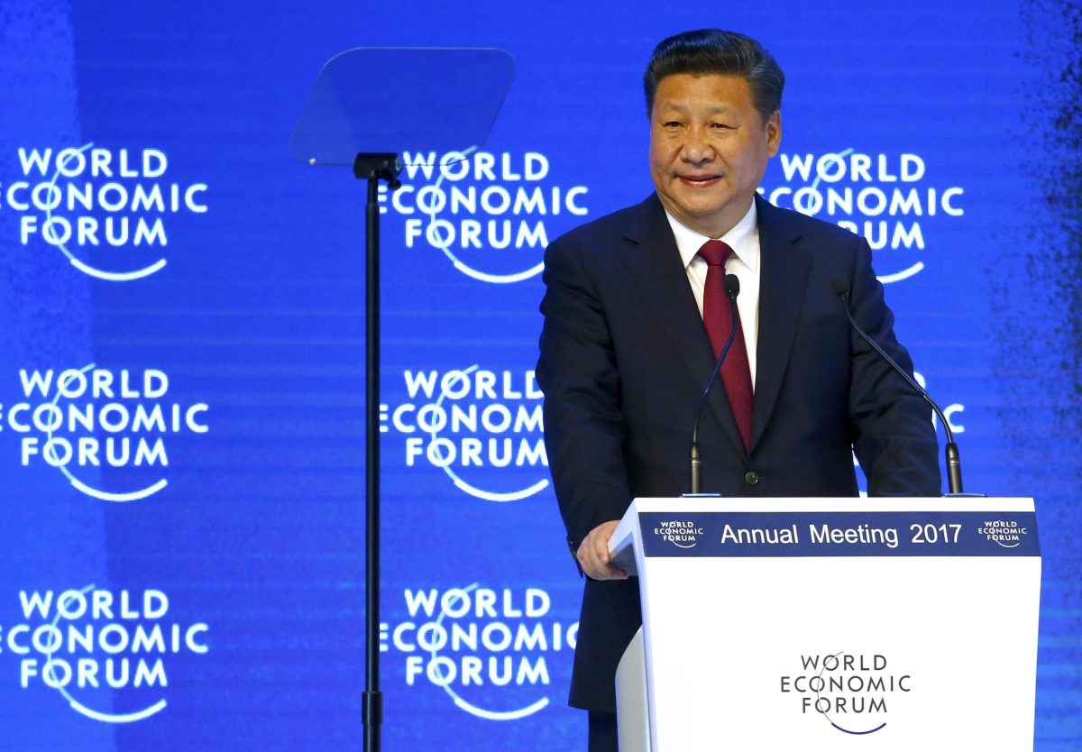 Chinese President Xi Jinping speaks at the World Economic Forum  in Davos, Switzerland. Photo: REUTERS / Ruben Sprich