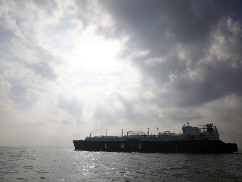 All at sea: US LNG fleet is headed to Asia 's more expensive markets. Photo: REUTERS/Issei Kato