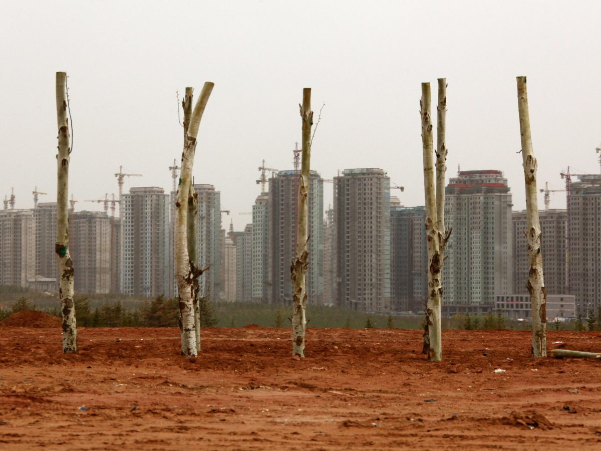 Bands don't play no more: Ordos is filled with thousands of residential apartments and duplex-style homes, built to house mainly workers for the nearby coal mines located just outside the town. However, the estimated one million people that were expected to move into or visit the district's now decaying buildings, have yet to appear. Photo: Reuters
