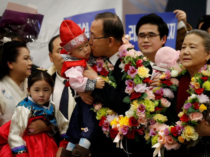 Something smells off... Former UN chief Ban Ki-moon must feel at home in Korean politics right now, given his own UN-linked graft woes. Photo: Reuters