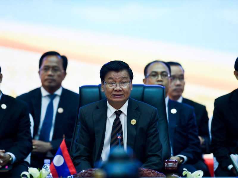 Laos Prime Minister Thongloun Sisoulith at the Asean Summit Retreat. Photo: AFP/Ye Aung Thu