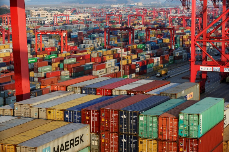 Container boxes in Shanghai, China. Photo: Reuters, Aly Song