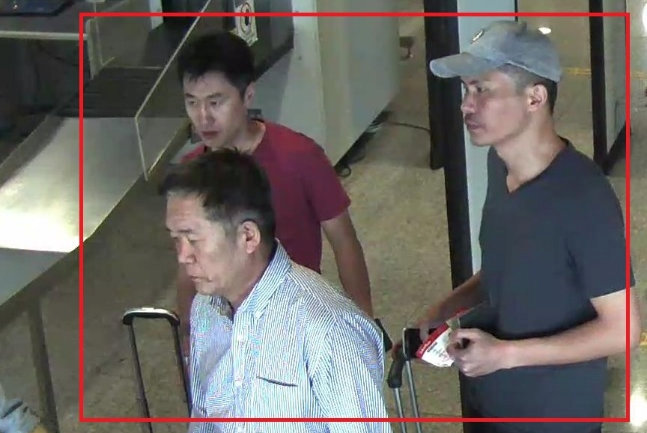 North Korean suspects Ri Jae Nam (front L), Hong Song Hac (back L) and Ri Ji Hyun (R) are seen in this undated handout released by the Royal Malaysia Police to Reuters on February 19, 2017.