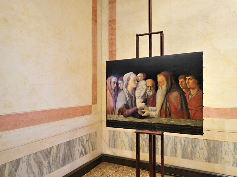 The Presentation at the Temple by Giovanni Bellini, dating to 1460 is on view in the Fondazione Querini Stampalia. Photo: