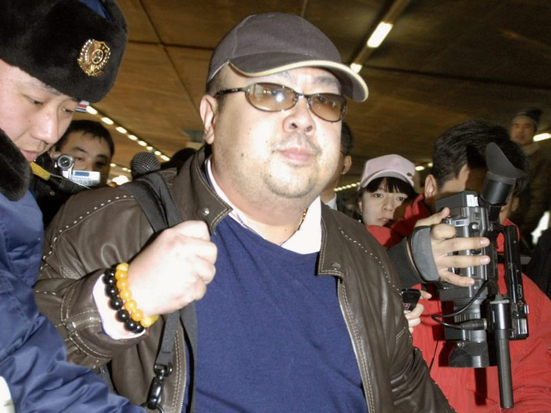 Kim Jong-nam arriving at Beijing airport in 2007. Photo: Kyodo via Reuters