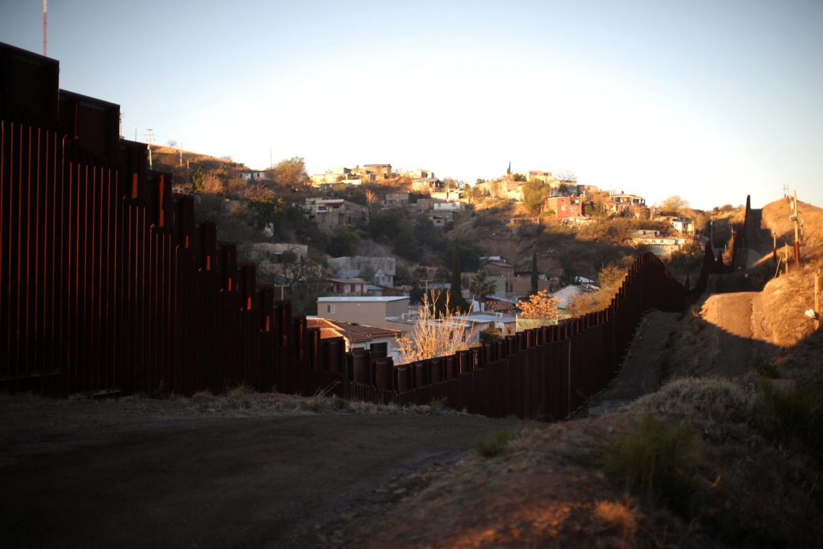 The US border with Mexico  in Nogales, Arizona. Photo: Lucy Nicholson, Reuters