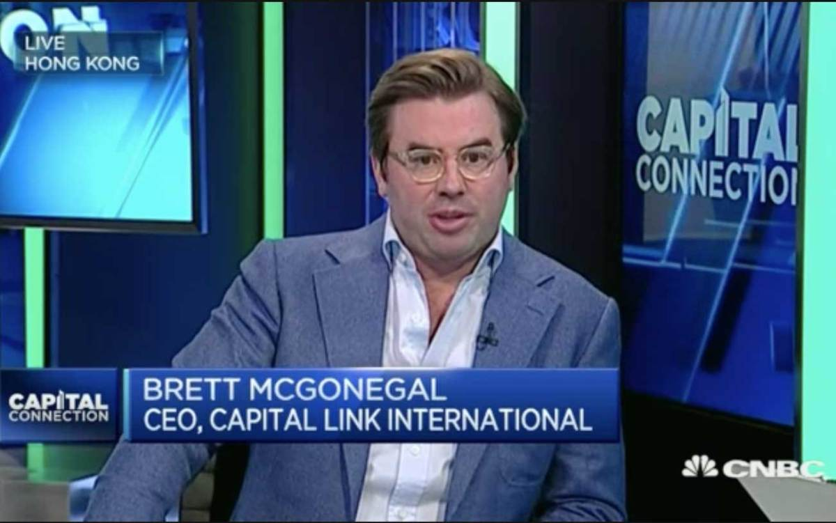 Capital Link International CEO Brett McGonegal says China's currency is stabilising and will probably strengthen. Photo: CNBC screen grab