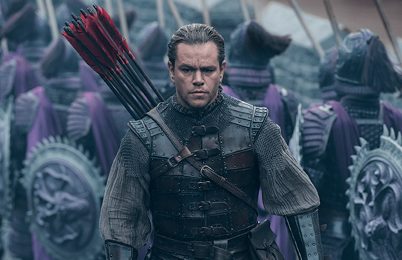 """The casting of Matt Damon as the star in Zhang Yimou's latest China-based epic drew criticism over Hollywood's """"whitewashing"""" of history. Image: Universal Pictures."""