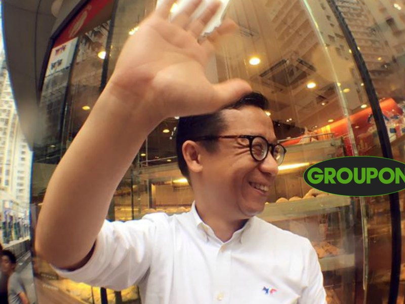 HKTV's Ricky Wong is probably eying the database of Groupon Hong Kong. Photo: Facebook/ Ricky Wong