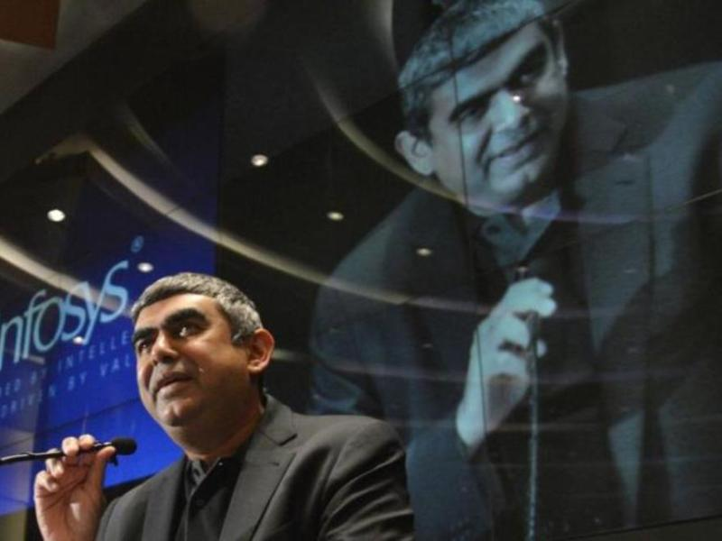 Infosys Chief Executive Officer Vishal Sikka attends a news conference at the company's headquarters in Bangalore, India. Photo: Reuters