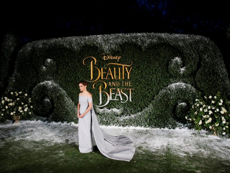 "Actor Emma Watson poses for photographers at a media event for the film ""Beauty and the Beast"" in London, Britain February 23, 2017. REUTERS/Neil Hall"