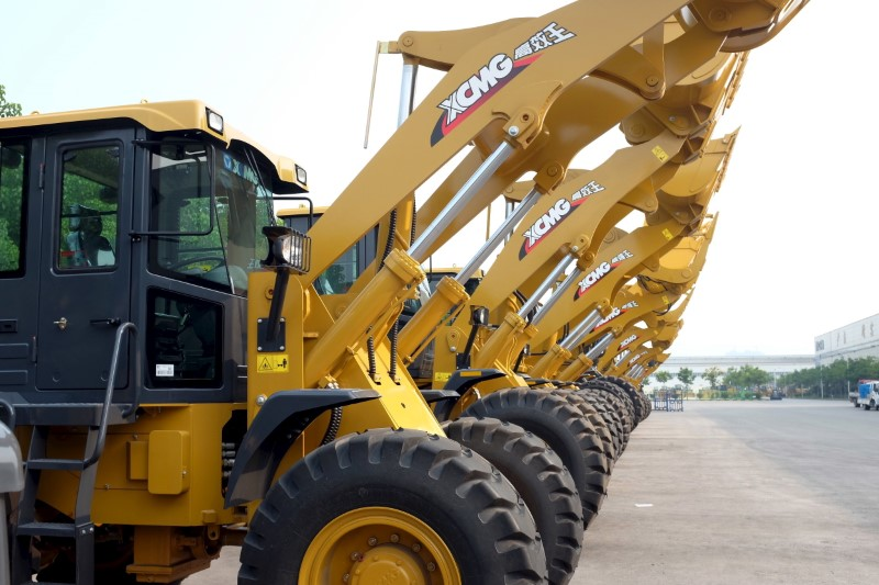 XCMG front loaders are seen in Xuzhou, Jiangsu province in China.  Photo: Reuters/Brenda Goh