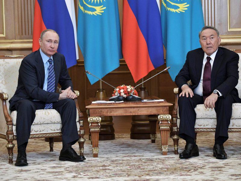 Russia's President Vladimir Putin meets with Kazakh President Nursultan Nazarbayev in Almaty, Kazakhstan,  February 27, 2017. Photo: Sputnik/Alexei Nikolsky/Kremlin via Reuters.