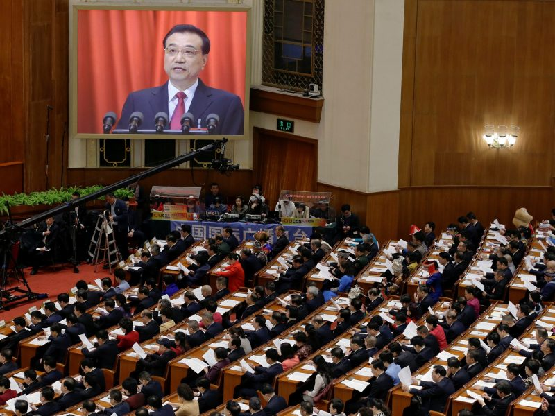 Premier Li Keqiang gave details of ongoing reforms to the state-owned enterprise sector in his opening speech to NPC on Sunday. Photo: Reuters