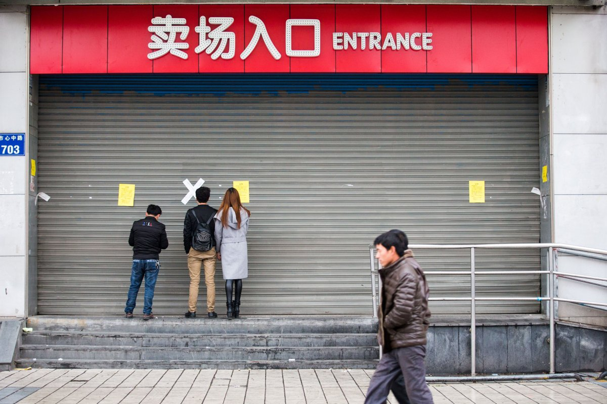 A closed Lotte Mart in Hangzhou, Zhejiang province, China, March 5, 2017.  REUTERS/Stringer