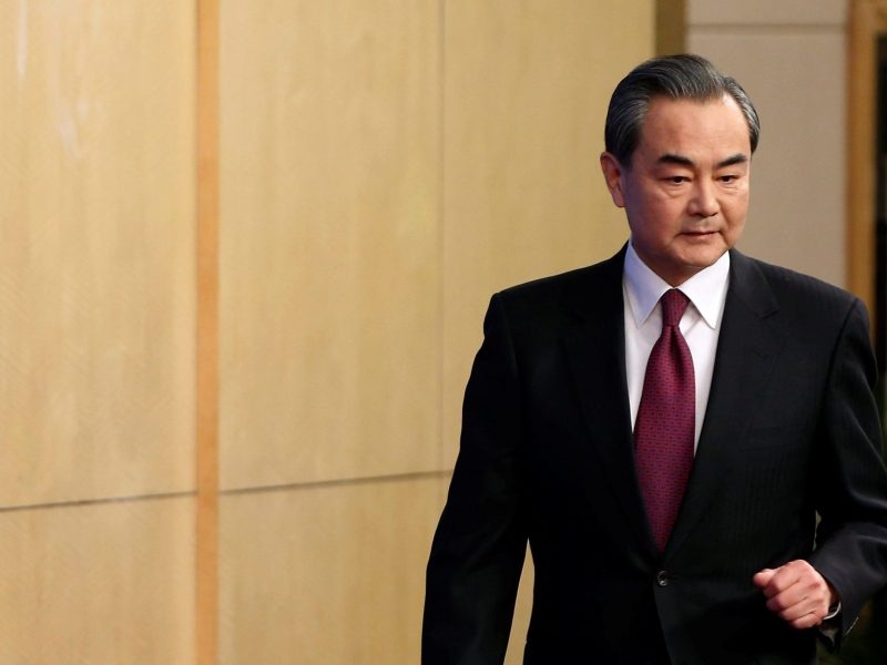 Chinese Foreign Minister Wang Yi. Photo: Reuters/Tyrone Siu