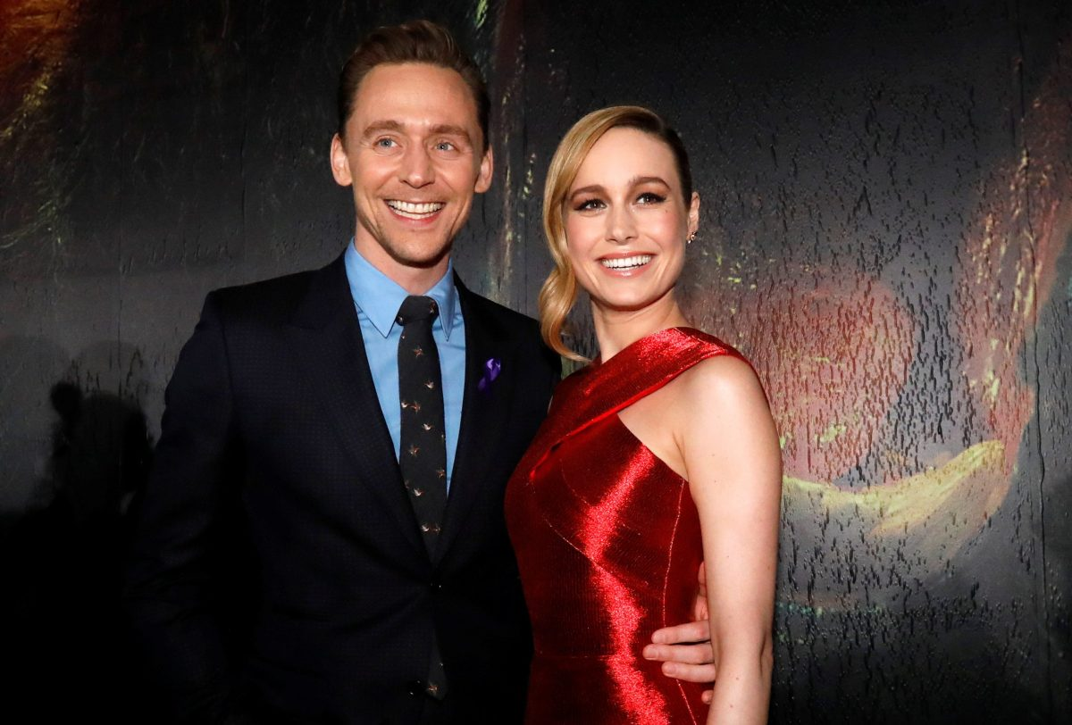 Cast members Tom Hiddleston and Brie Larson pose at the premiere of Kong: Skull Island in Los Angeles, on March 8, 2017. Photo: Reuters / Mario Anzuoni