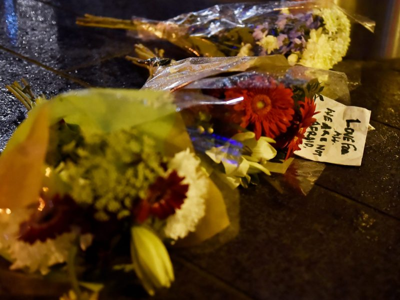 Flowers are laid at the scene after an attack on Westminster Bridge in London. Photo: Reuters/Hannah McKay