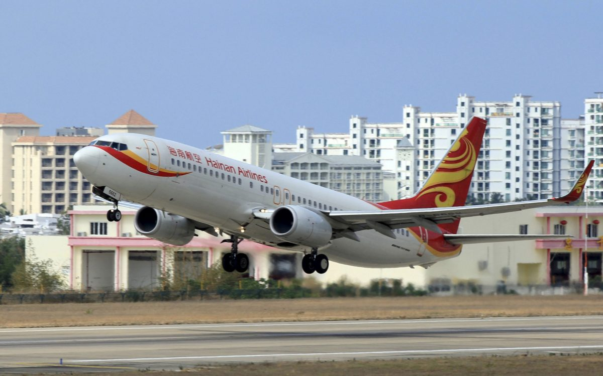 A Hainan Airlines plane takes off from the Sanya Phoenix International Airport in Sanya, Hainan province, China, May 1, 2015. Photo: Reuters