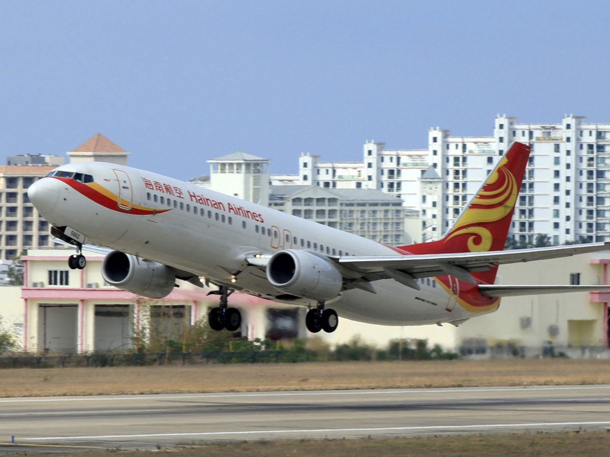 A Hainan Airlines plane takes off from the Sanya Phoenix International Airport in Sanya, Hainan province, China, May 1, 2015. Photo: Reuters