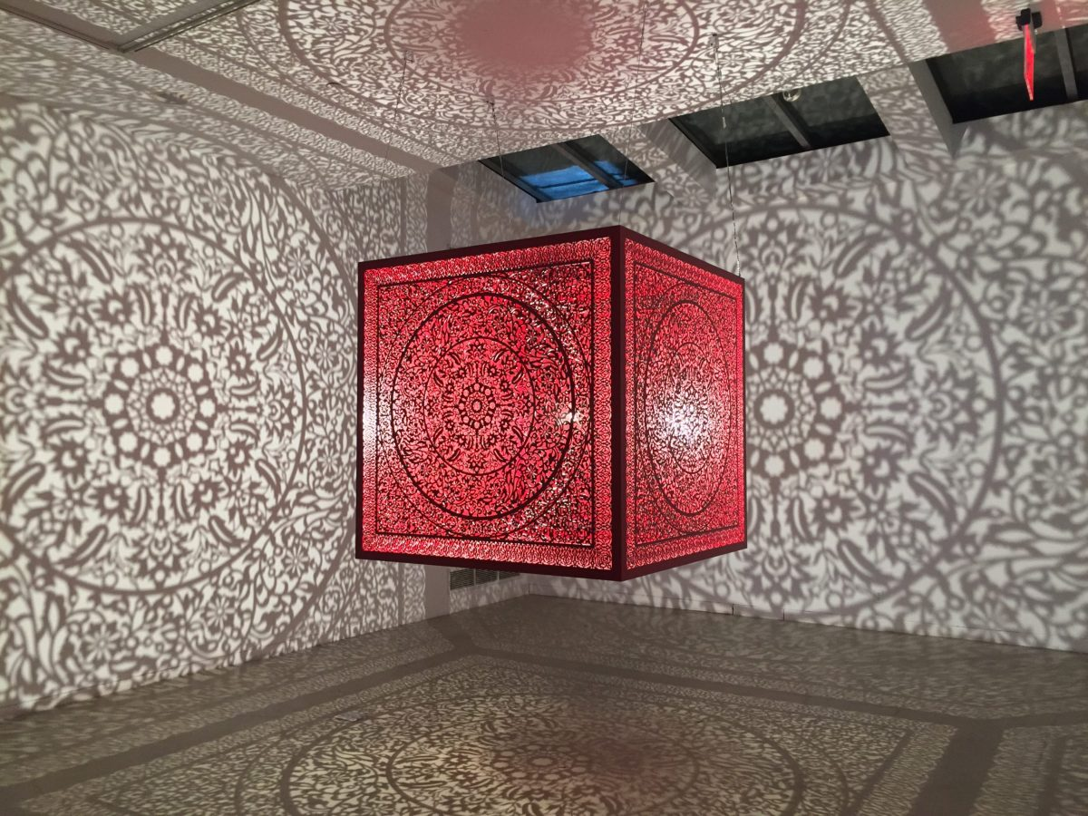 Anila Quayyum Agha's All the Flowers Are For Me was on show at the India Art Fair. Photo: Aicon Gallery