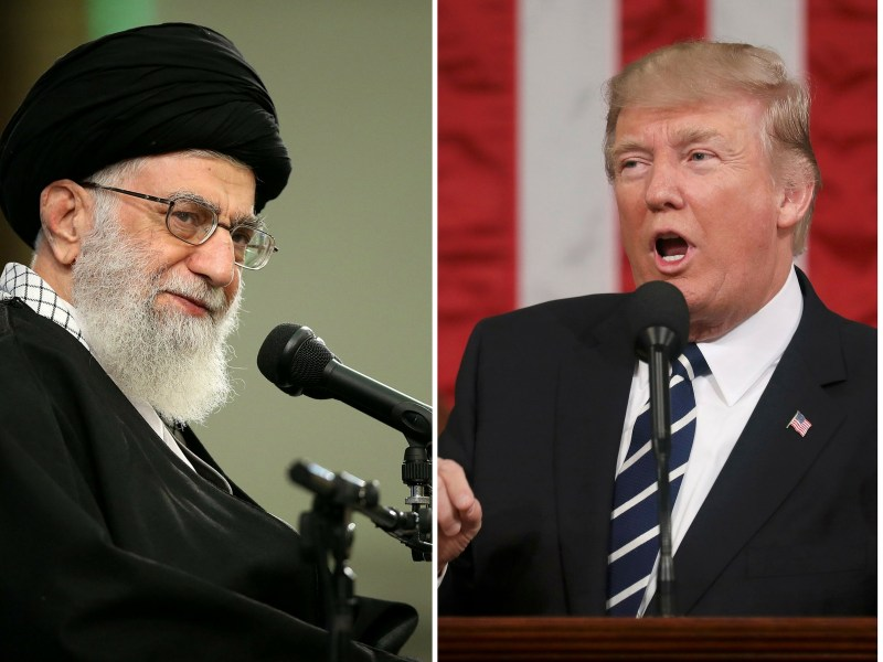 Iranian Supreme Leader Ali Khamenei and US President Donald Trump. Photo: Reuters