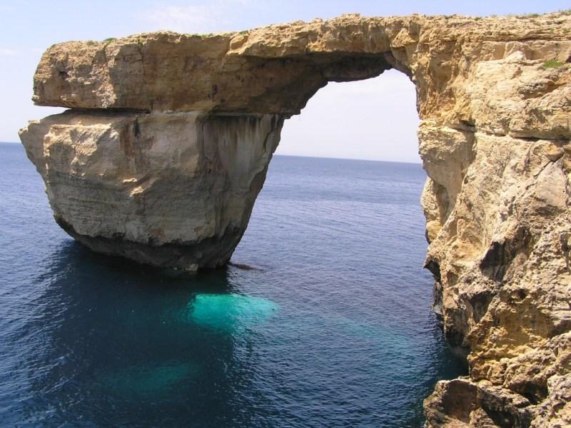 Malta's famous landmark, the Azure Window, has collapsed. Photo: Wikimedia Commons