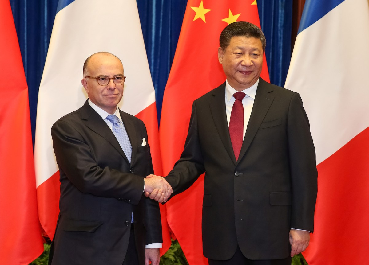 French Prime Minister Bernard Cazeneuve meets with Chinese President Xi Jinping in Beijing in February. Photo: Roman Pilipey, Reuters