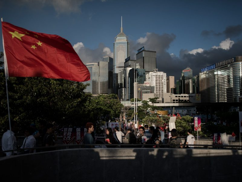 This month's leadership election is the first since mass pro-democracy street protests rocked Hong Kong in late 2014. Photo: Agence France-Presse.
