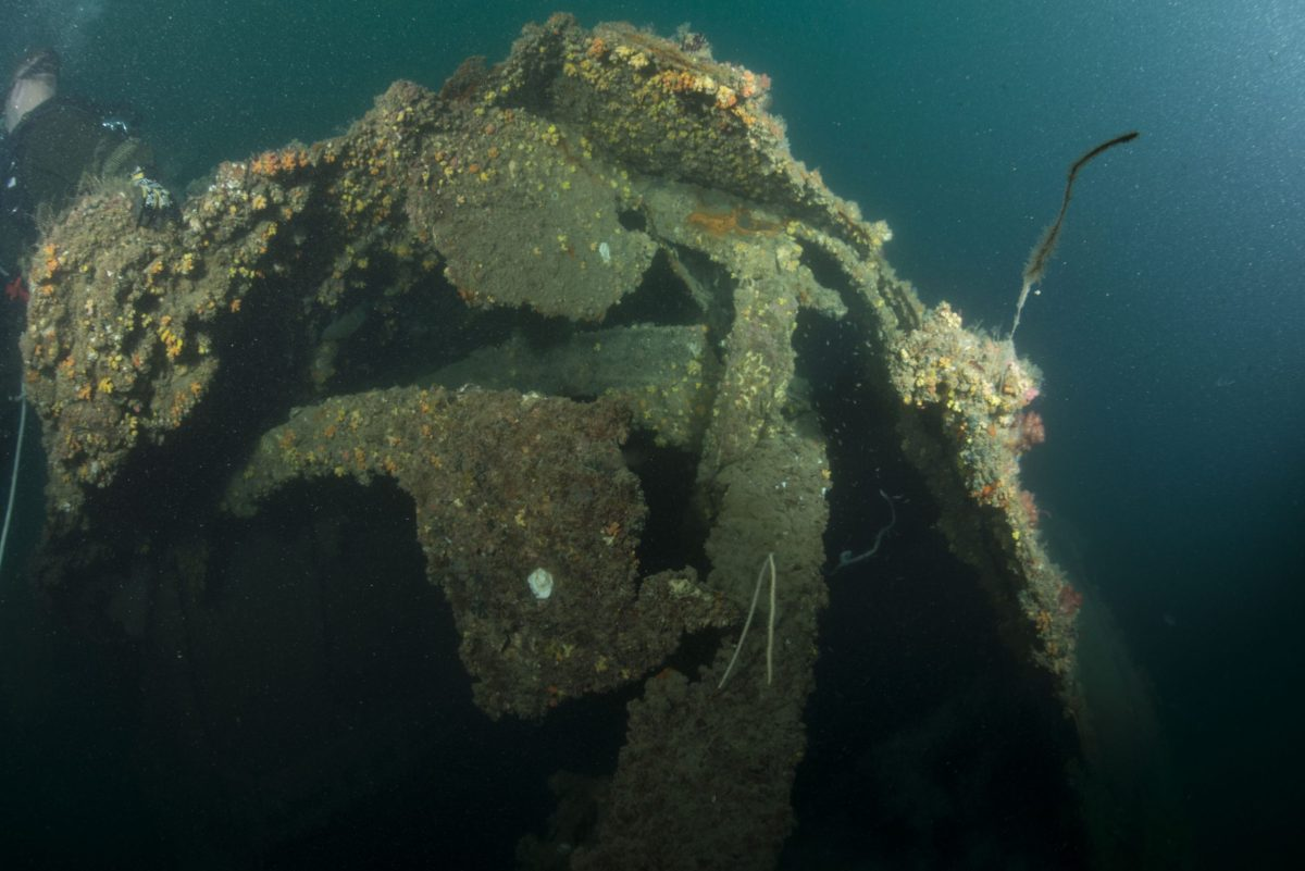 One of the wreck sites of HMAS Perth (D29) that is under survey. Photo: Wikimedia Commons