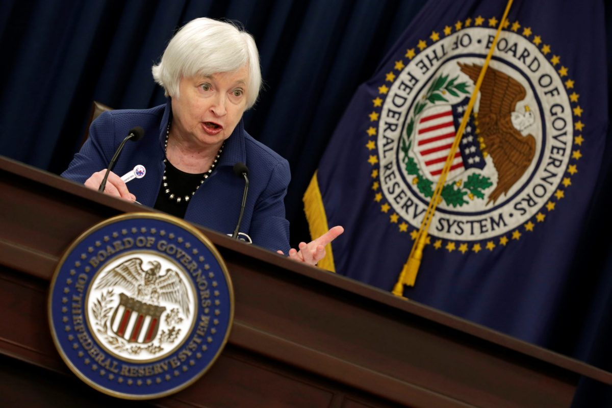 Federal Reserve Chair Janet Yellen. Photo: Reuters/Yuri Gripas